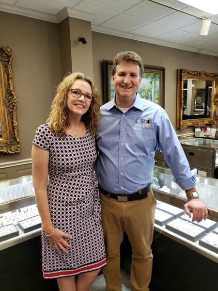 David and Danelle Weaver in the jewelry store
