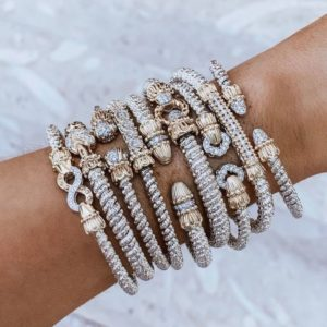 Alwand Vahan stackable gold and diamond bracelets
