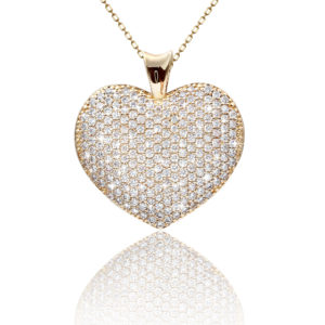 Gold Diamond Pendant Necklace